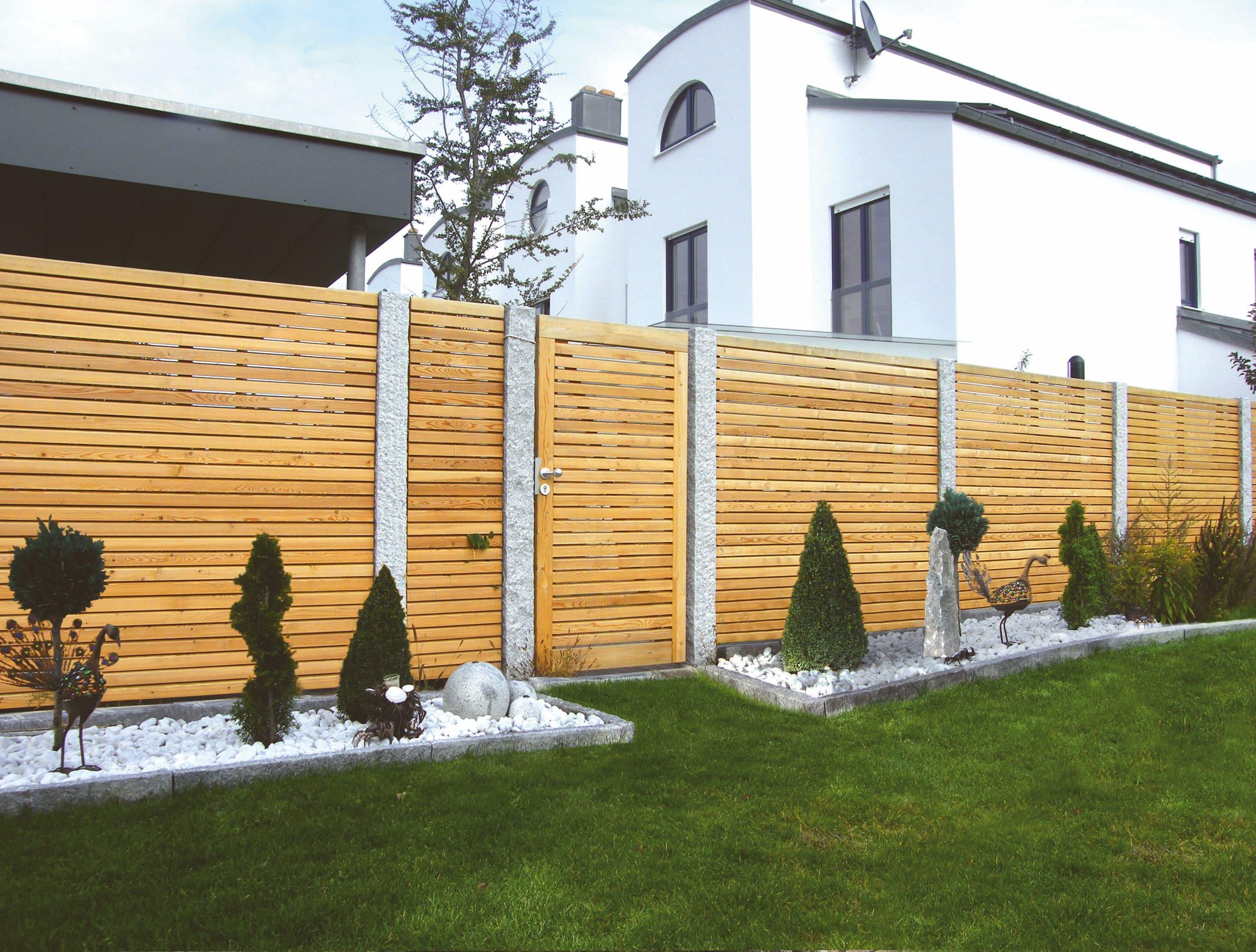 Holz Sichtschutzzaun Holzland Hundshammer